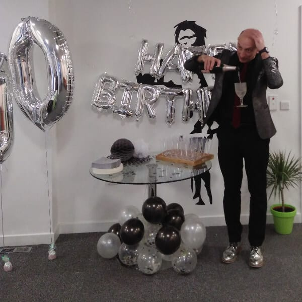 Paul performing magic for SEO Works 10 birthday (March 2019)